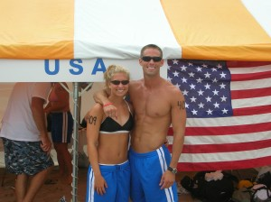 My Girl Dana and I representing for the USA in Japan