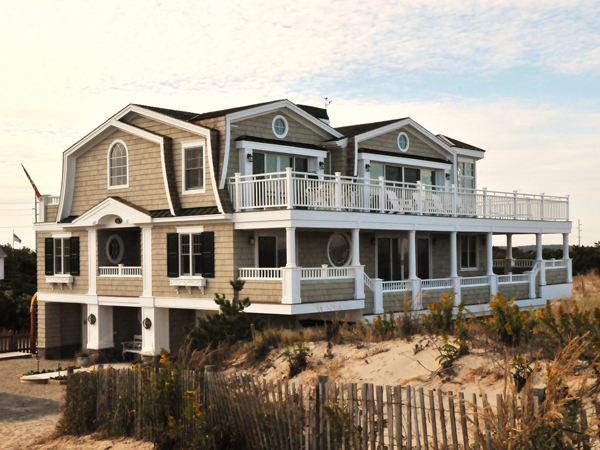 Fenwick island photo gallery of custom delaware new for Custom beach house
